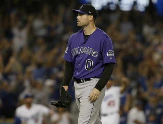 Adam Ottavino's right-handed frisbee is positively unfair at times. (AP)