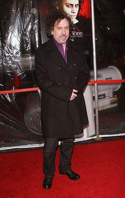 """Premiere: Director <a href=""""/movie/contributor/1800023303"""">Tim Burton</a> at the New York City premiere of DreamWorks Pictures' <a href=""""/movie/1809834155/info"""">Sweeney Todd: The Demon Barber of Fleet Street</a> - 12/03/2007<br>Photo: <a href=""""http://www.wireimage.com"""">Jim Spellman, WireImage.com</a>"""