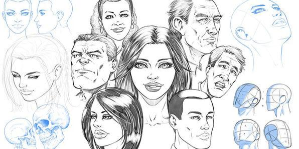 You'll learn how to draw a variety of heads and faces from any angle (Photo: Yahoo Lifestyle Shop)