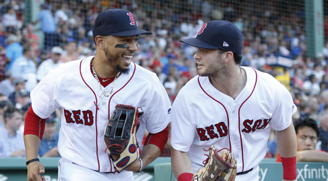 Red Sox outfielders Mookie Betts and Andrew Benintendi have been nominated to win ESPY awards on July 10.