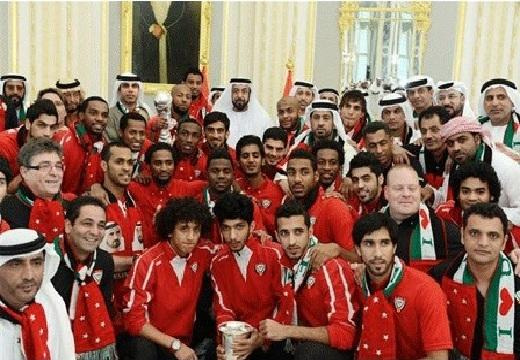 The victorious UAE football team