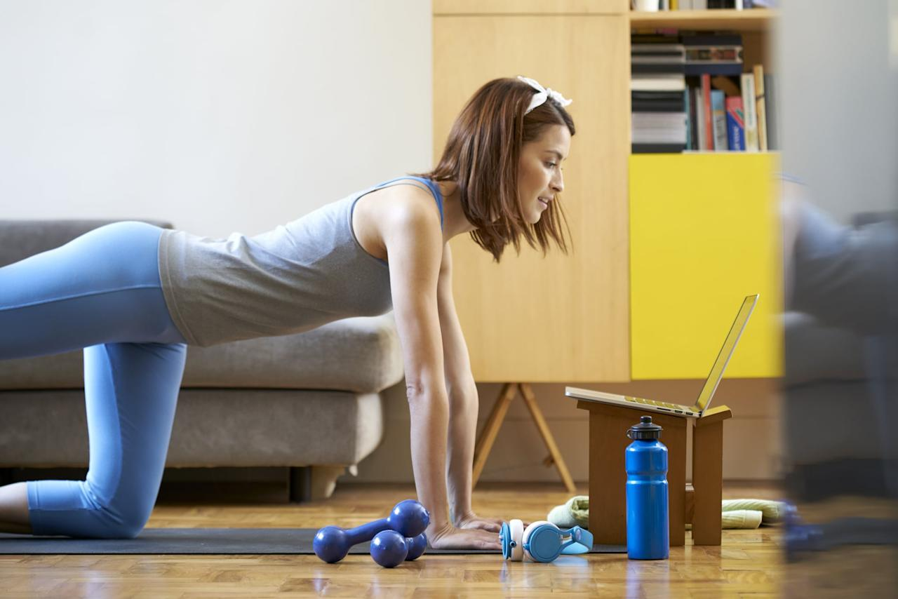 """<p>Not everyone has access to in-person trainers and that's completely understandable (Dr. Carter said she even opted out of personal training sessions herself because she wanted to spend that money on other things)! But, there are ways you can still use their expertise at home. Dr. Carter pointed to YouTube as a great resource to learn about proper form while you're working out, but she cautioned that you should vet your experts. She said you can look for content that's backed by the American Orthopedic Society For Sports Medicine (AOSSM), the American Medical Society For Sports Medicine (AMSSM), or the National Athletic Trainers' Association (NATA).</p> <p>In addition, finding content on YouTube from a certified personal trainer is ideal, just so you can make sure the workouts you're following are safe and legitimate. A few names on YouTube to start are <a href=""""http://www.youtube.com/channel/UCOpsZxrmeDARilha1uq4slA"""" target=""""_blank"""" class=""""ga-track"""" data-ga-category=""""Related"""" data-ga-label=""""http://www.youtube.com/channel/UCOpsZxrmeDARilha1uq4slA"""" data-ga-action=""""In-Line Links"""">Heather Robertson</a>, <a href=""""http://www.youtube.com/channel/UCVQJZE_on7It_pEv6tn-jdA"""" target=""""_blank"""" class=""""ga-track"""" data-ga-category=""""Related"""" data-ga-label=""""http://www.youtube.com/channel/UCVQJZE_on7It_pEv6tn-jdA"""" data-ga-action=""""In-Line Links"""">Sydney Cummings</a>, <a href=""""http://www.youtube.com/user/SugarySixPack"""" target=""""_blank"""" class=""""ga-track"""" data-ga-category=""""Related"""" data-ga-label=""""http://www.youtube.com/user/SugarySixPack"""" data-ga-action=""""In-Line Links"""">Sugary Six Pack</a>, and <a href=""""http://www.youtube.com/channel/UCA9k6Z3B9ywXmwKh-zpBwfw"""" target=""""_blank"""" class=""""ga-track"""" data-ga-category=""""Related"""" data-ga-label=""""http://www.youtube.com/channel/UCA9k6Z3B9ywXmwKh-zpBwfw"""" data-ga-action=""""In-Line Links"""">BodyFit by Amy</a>. You can also find a wide range of workouts - HIIT, bodyweight, dance, etc. - on <a href=""""http://www.youtube.com/channel/UCBINFWq52ShSgUFEoynfSwg"""" target=""""_"""