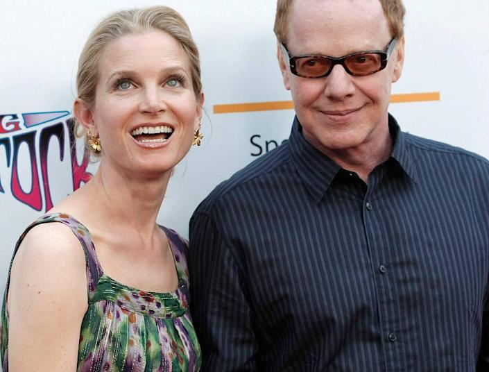 """Actress Bridget Fonda, left, and her husband, musician Danny Elfman arrive at the premiere of the feature film """"Taking Woodstock"""" in Los Angeles on Aug. 4, 2009. (AP Photo/Dan Steinberg)"""