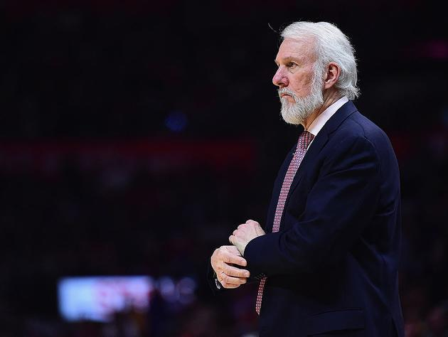 Gregg Popovich hasn't appeared to shave since, oh, early November. (Getty Images)