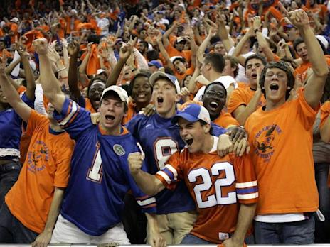 University Florida Gators Students Fans