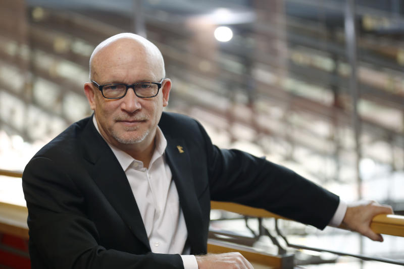 """FILE - This Feb. 17, 2016 file photo shows Alex Gibney, director of the FIlm """"Zero Days"""" posing at the 2016 Berlinale Film Festival in Berlin, Germany. Producers of Gibney's """"No Stone Unturned"""" have pulled the documentary about the 1994 murder of six men in Northern Ireland from the Tribeca Film Festival over legal issues. The film was to premiere April 23 at the festival. (AP Photo/Axel Schmidt, File)"""