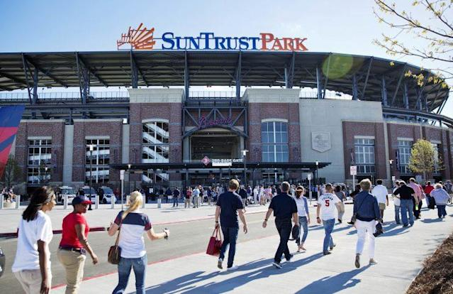 Parking at brand new SunTrust Park might be a nightmare on opening weekend. (AP)