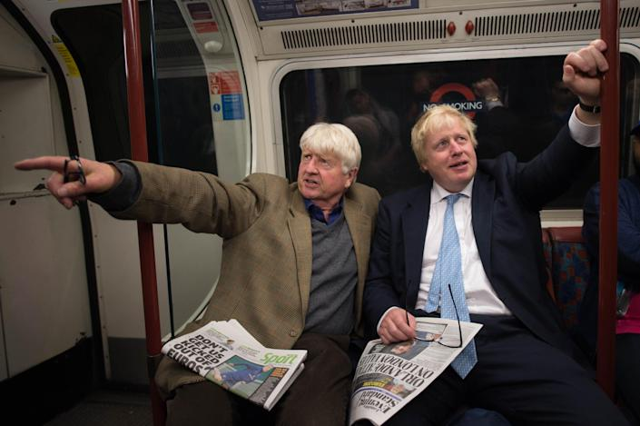 Stanley Johnson (left) has been criticised for travelling to Greece. (PA Images)