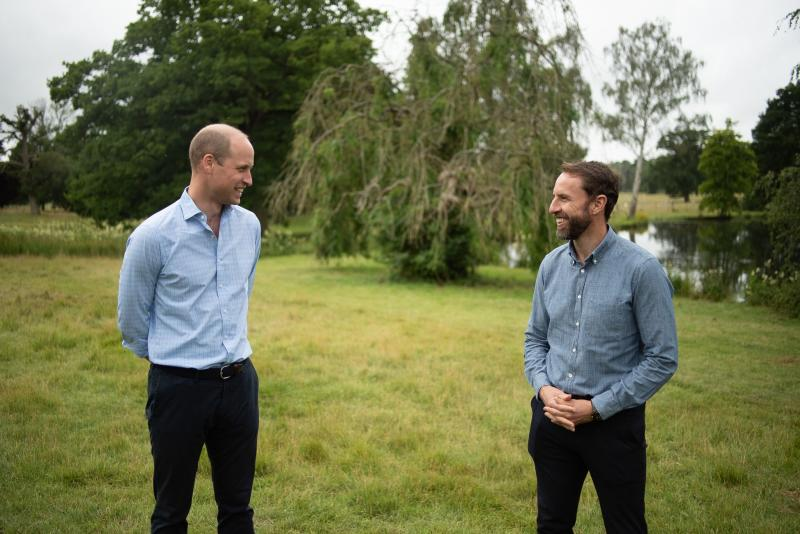 England manager Gareth Southgate spoke to the Duke of Cambridge as part of the Heads Up campaign's #SoundofSupport series