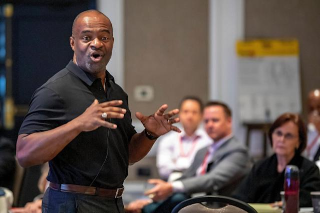 NFLPA Executive Director, DeMaurice Smith is urging agents to have their clients save money in case of a prolonged work stoppage. (AP)