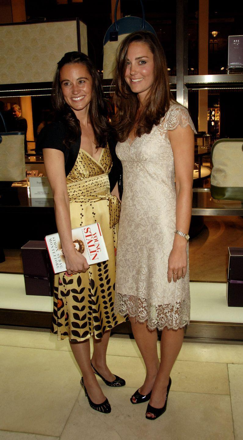 <p>Attending the book launch party of <em>The Young Stalin: The Adventurous Early Life Of The Dictator 187</em><em>8-1917</em> in London with sister Pippa Middleton.</p>