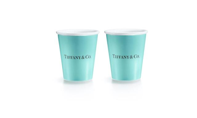 "<p>Bone China ""paper"" cup, $95, <a href=""http://www.tiffany.com/accessories/decorative-accents/everyday-objects-bone-china-paper-cup-60558930?trackpdp=p"" rel=""nofollow noopener"" target=""_blank"" data-ylk=""slk:tiffany.com"" class=""link rapid-noclick-resp"">tiffany.com</a> </p>"