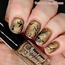 """<p>Simple black silhouettes against a shimmery gold background call for a steady hand. Try a lighter gold accent color for more contrast.</p><p><a class=""""link rapid-noclick-resp"""" href=""""https://www.amazon.com/essie-polish-collection-ultra-fine-glitter/dp/B085PCFN9X/?tag=syn-yahoo-20&ascsubtag=%5Bartid%7C10050.g.33512580%5Bsrc%7Cyahoo-us"""" rel=""""nofollow noopener"""" target=""""_blank"""" data-ylk=""""slk:SHOP GOLD NAIL POLISH"""">SHOP GOLD NAIL POLISH</a></p><p><a href=""""https://www.instagram.com/p/CDWt9_3D9Kc/?utm_source=ig_embed&utm_campaign=loading"""" rel=""""nofollow noopener"""" target=""""_blank"""" data-ylk=""""slk:See the original post on Instagram"""" class=""""link rapid-noclick-resp"""">See the original post on Instagram</a></p>"""