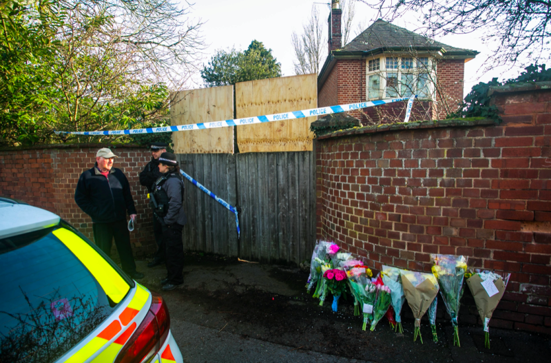 Flowers were left at the scene of one of the killings (SWNS)