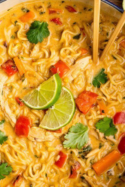 """<p>This chicken noodle soup recipe is all kinds of delicious...</p><p>Get the <a href=""""https://www.delish.com/uk/cooking/recipes/a32569967/asian-chicken-noodle-recipe/"""" target=""""_blank"""">Asian Chicken Noodle Soup</a> recipe.</p>"""