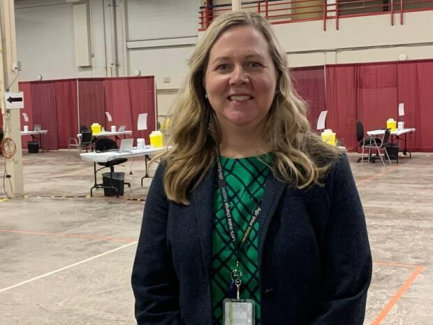 Marion Dowling, P.E.I.'s chief of nursing, says the new vaccination clinic in Charlottetown will distribute 300 doses a day. (Laura Meader/CBC - image credit)