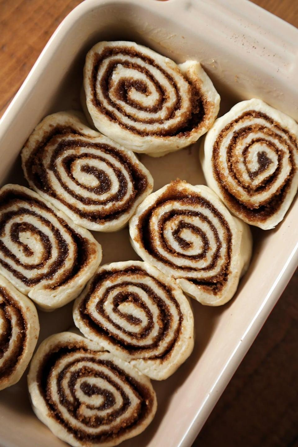 "<p>Cinnamon rolls were all the rage this year, and this mouthwatering recipe makes these glazed goodies in 30 minutes flat. Dripping with butter and brown sugar, these homemade treats will make you swoon.</p> <p><strong>Get the recipe</strong>: <a href=""https://www.popsugar.com/food/Cinnamon-Roll-Recipe-28372881"" class=""link rapid-noclick-resp"" rel=""nofollow noopener"" target=""_blank"" data-ylk=""slk:crescent cinnamon rolls"">crescent cinnamon rolls</a></p>"