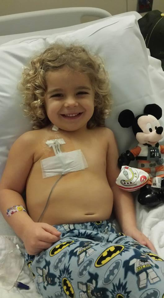 Kaizler on Christmas Day 2015, just after being diagnosed with leukemia. (Photo: Facebook/Prayers for Kaizler)