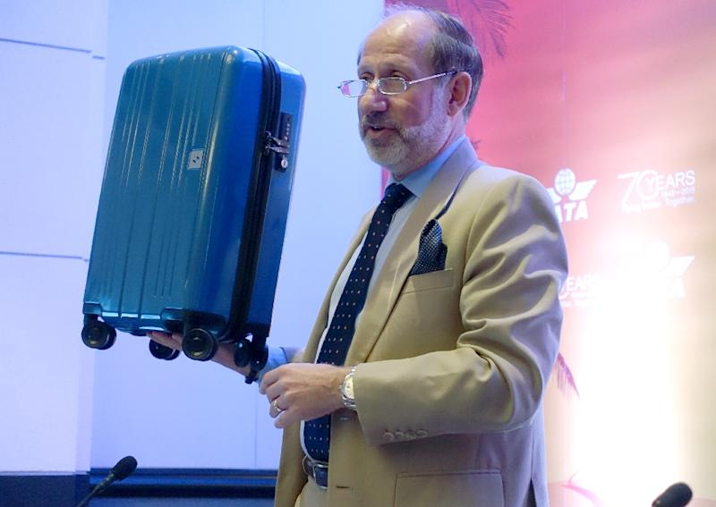 The IATA's Tom Windmuller announced a new industry-wide standard for carry-on bags at the association's annual meeting in the United States (AFP Photo/Kerry Sheridan)