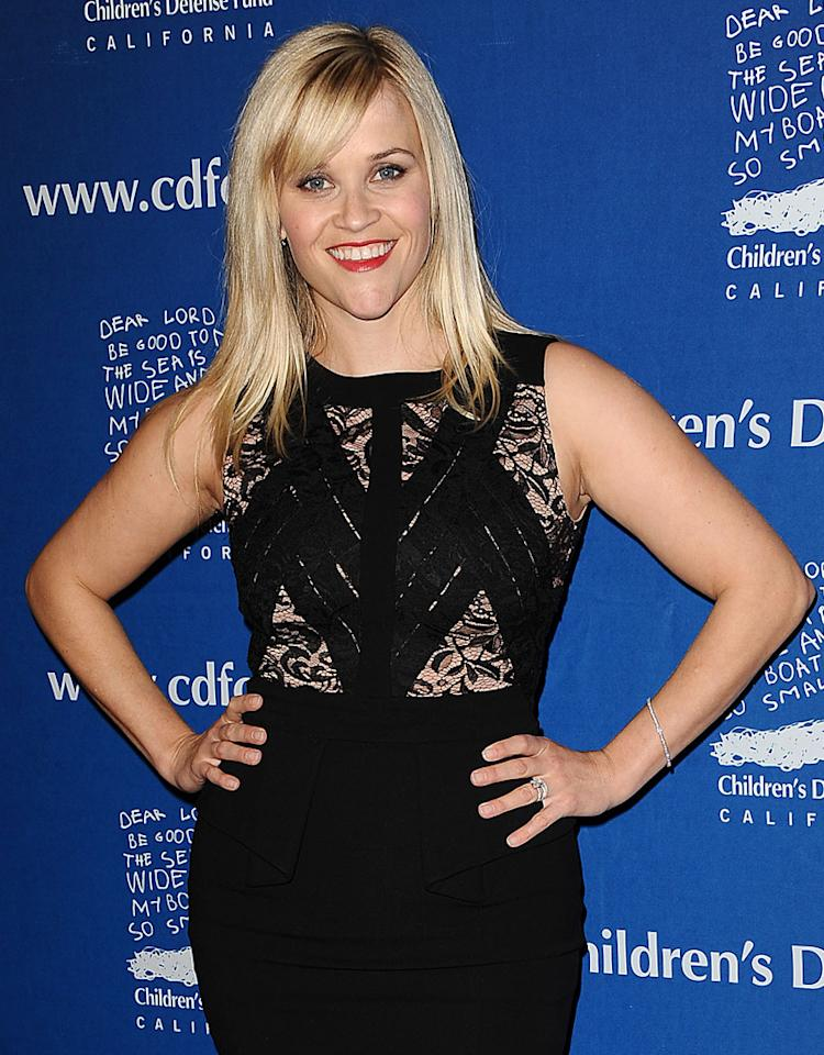 "BEVERLY HILLS, CA - DECEMBER 06:  Actress Reese Witherspoon attends the Children's Defense Fund's 22nd annual ""Beat the Odds"" Awards at the Beverly Hills Hotel on December 6, 2012 in Beverly Hills, California.  (Photo by Jason LaVeris/FilmMagic)"