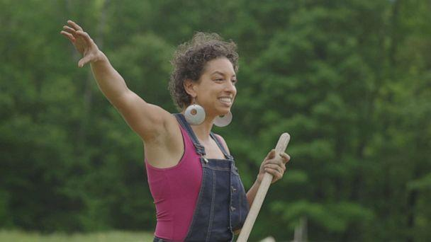 PHOTO: Leah Penniman is co-director of Soul Fire Farms. She says their mission is to help Black farmers hold onto their land and train a new generation of Black farmers.  (ABC News )