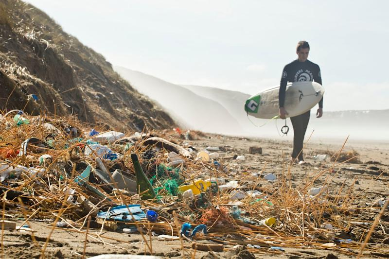 It's estimated that more than 70 per cent of rubbish washed up on Britain's beaches is plastic.