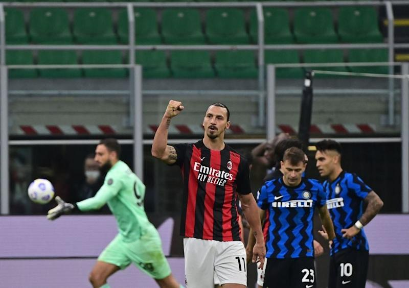 Zlatan scored twice for Milan (AFP via Getty Images)