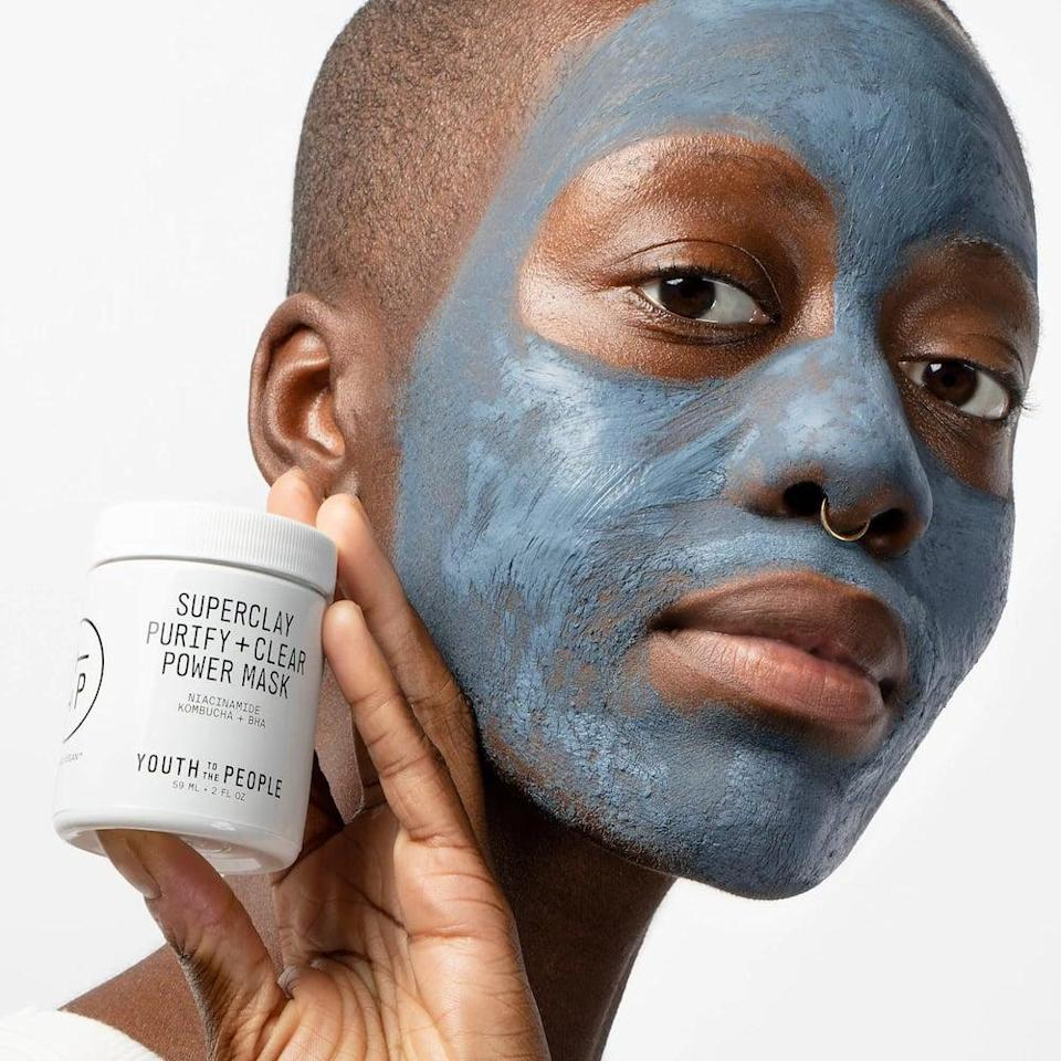 <p>This <span>Youth to the People Superclay Purify + Clear Power Mask with Niacinamide</span> ($36) is a potent treatment. The clay cleans out impurities but the niacinamide doesn't strip the skin.</p>