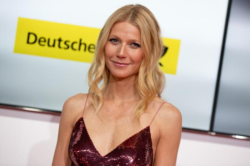 "FILE - This Feb. 1, 2014 file photo shows American actress Gwyneth Paltrow at the Goldene Kamera (Golden Camera) media awards in Berlin, Germany. Paltrow took to Goop and the lifestyle site's regular weekly email Friday, March 28, to offer thanks to supporters standing by her and her ""consciously uncoupled"" husband, Chris Martin, in their freshly announced separation. (AP Photo/Axel Schmidt, File)"