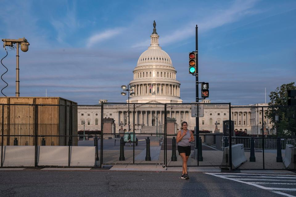 Capitol Breach Fence (Copyright 2021 The Associated Press. All rights reserved)