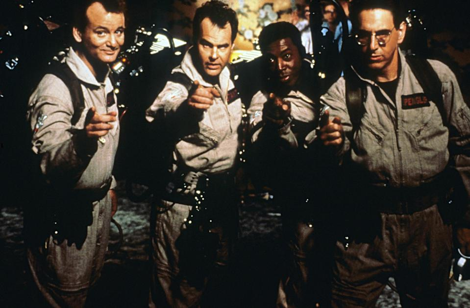 "<p>Who you gonna call? The O.G. <em>Ghostbusters</em> (Bill Murray, Harold Ramis, Ernie Hudson, and Dan Aykroyd) and their proton packs if you want to handle the spooky infestation of a city, of course. </p> <p><a href=""https://www.glamour.com/story/freeform-nights-of-halloween-schedule?mbid=synd_yahoo_rss"" rel=""nofollow noopener"" target=""_blank"" data-ylk=""slk:Available on Freeform's 31 Nights of Halloween"" class=""link rapid-noclick-resp""><em>Available on</em> <em>Freeform's 31 Nights of Halloween</em></a></p>"
