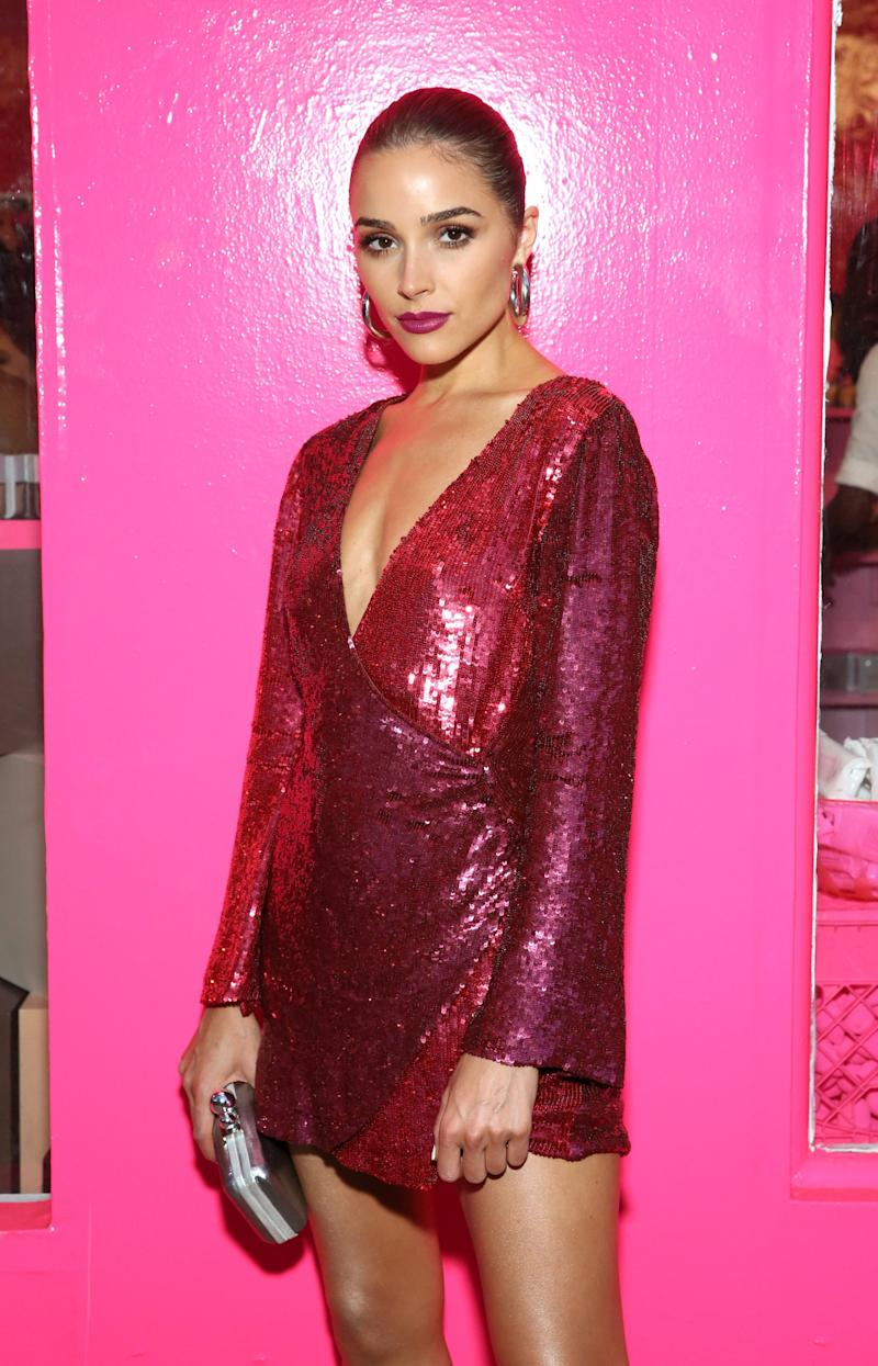 Olivia Culpo celebrates the launch of Beautyblender Bounce Liquid Whip Foundation in New York City, on July 24, 2018.