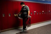 FILE PHOTO: Schools are routinely sanitized as students return to school in Michigan