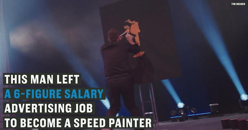 This man quit his 6-figure-salary job to become a speed painter