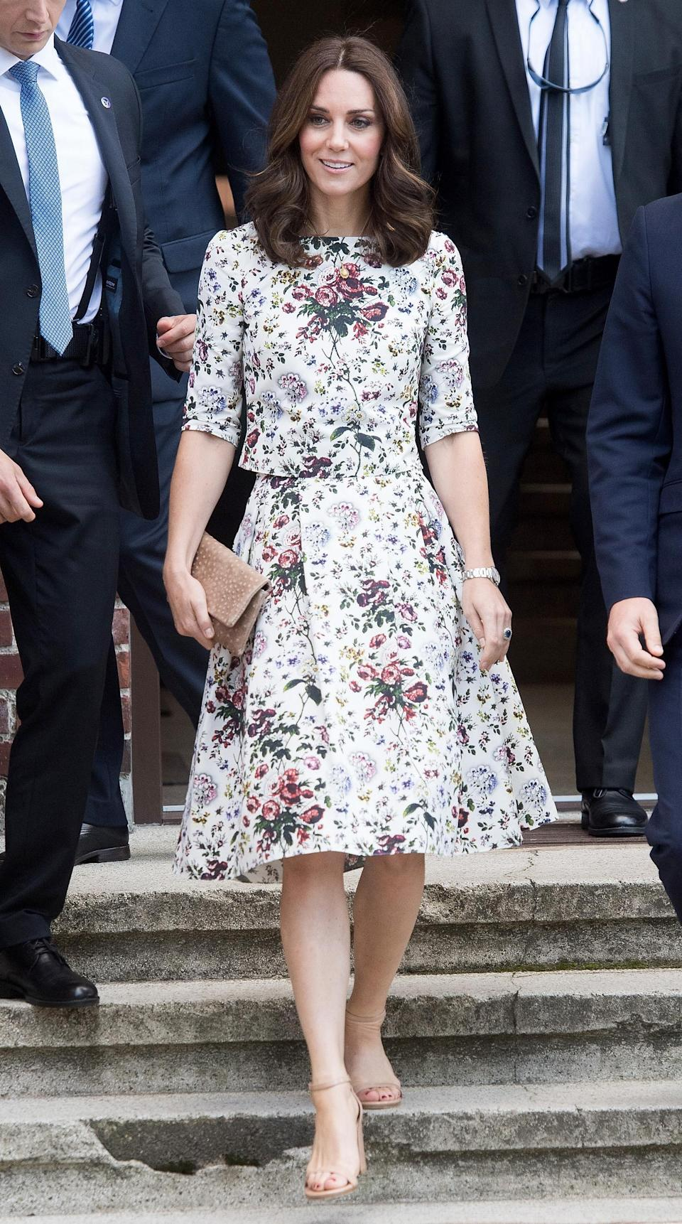 <p>But sometimes, even royal wardrobe rules can be broken — Kate has been spotted rocking a ruby red pedicure on the rare occasion she's bared her toes in strappy sandals.</p>