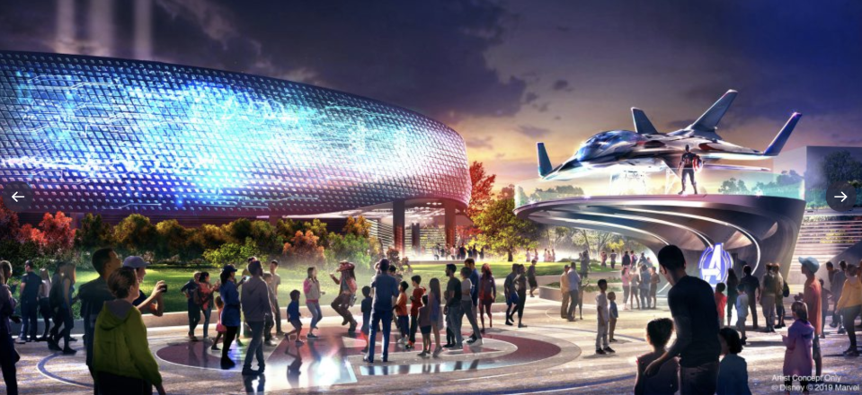 "An artist rendering shows the planned ""Avengers Campus""at Disneyland Paris. (Photo: Disney via Twitter)"