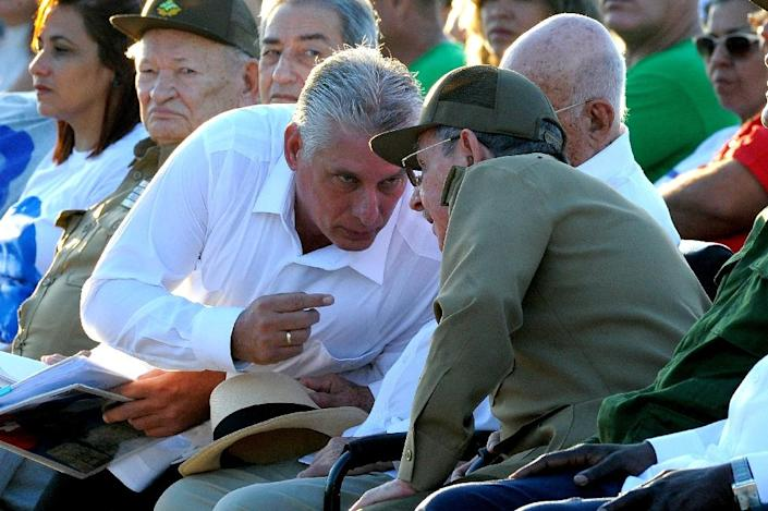 Cuba's Miguel Diaz-Canel, 57, has spent the last five years as Raul Castro's first vice president (AFP Photo/YAMIL LAGE)