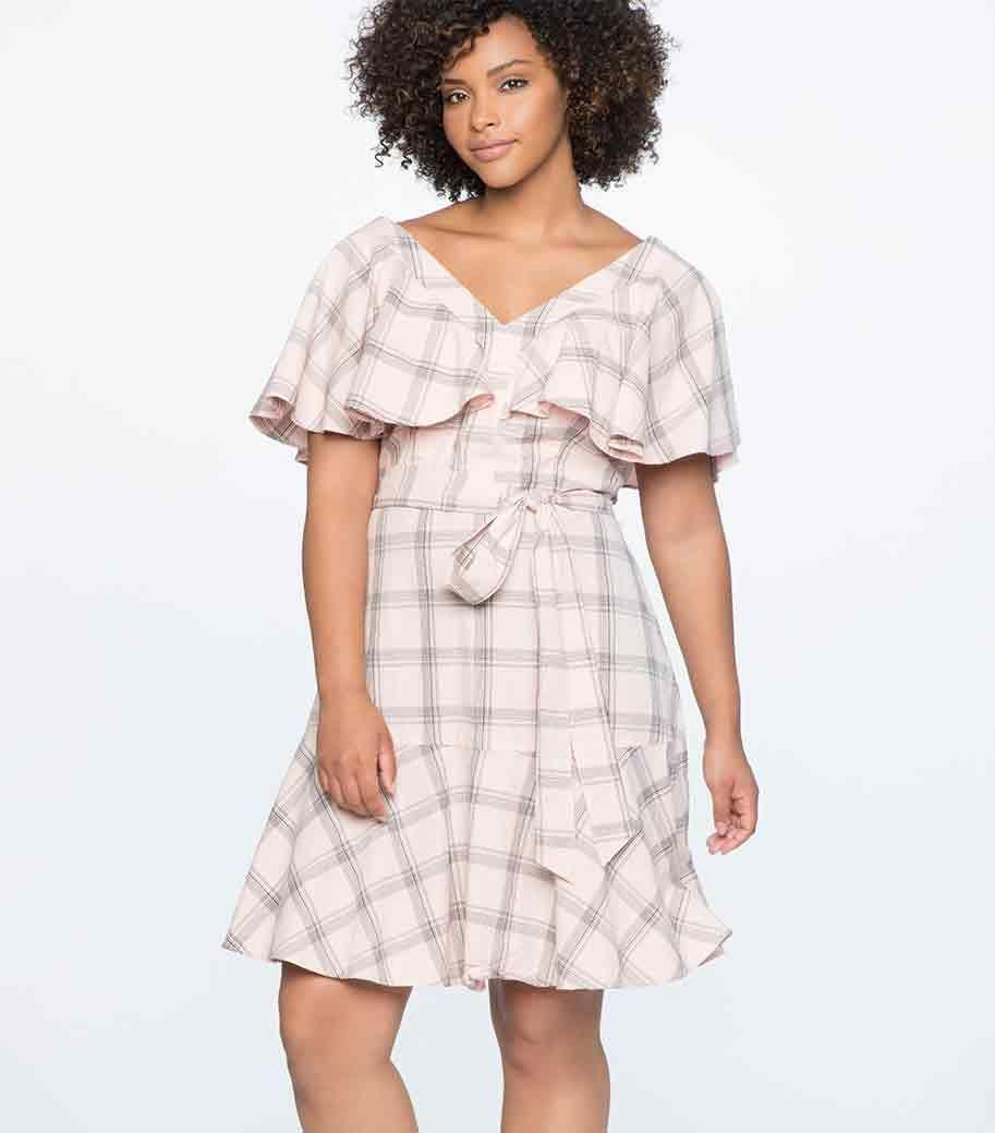 Who says plaid is a fall thing? Available in sizes 14 to 28.