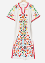 """<p><strong>Frances Valentine</strong></p><p>francesvalentine.com</p><p><strong>$698.00</strong></p><p><a href=""""https://francesvalentine.com/products/veracruz-caftan-dress?variant=31682407891007"""" rel=""""nofollow noopener"""" target=""""_blank"""" data-ylk=""""slk:Shop It"""" class=""""link rapid-noclick-resp"""">Shop It </a></p><p>There's no need to wear jewelry with this peacock embroidered caftan dress.</p>"""