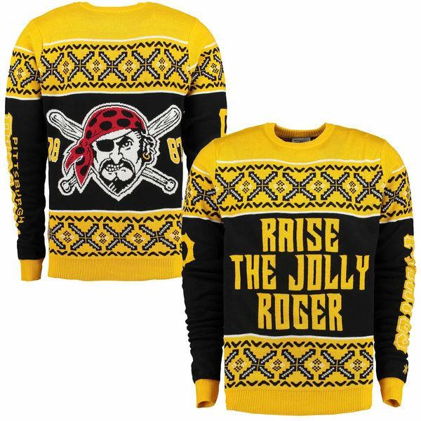 The Pirates ugly sweater, complete with their team motto, is both ugly and awesome. (shop.mlb.com)