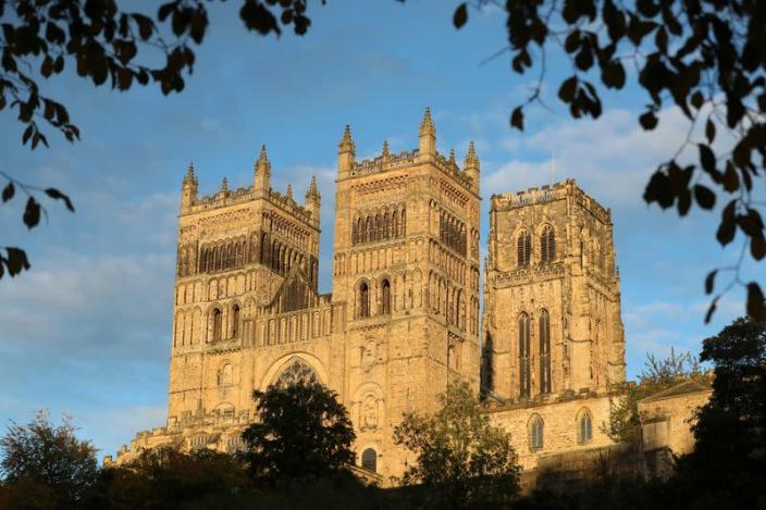 A view shows Durham Cathedral in Durham