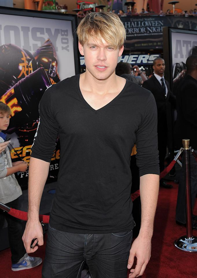 """Chord Overstreet at the Los Angeles premiere of <a href=""""http://movies.yahoo.com/movie/1810130487/info"""">Real Steel</a> on October 2, 2011."""