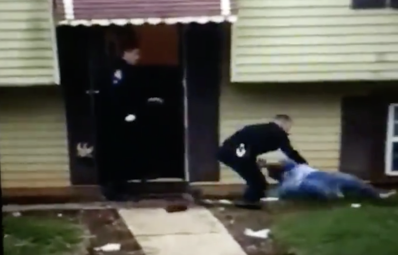 A screenshot shows the moment the grandmother was thrown to the ground: Jayne Miller