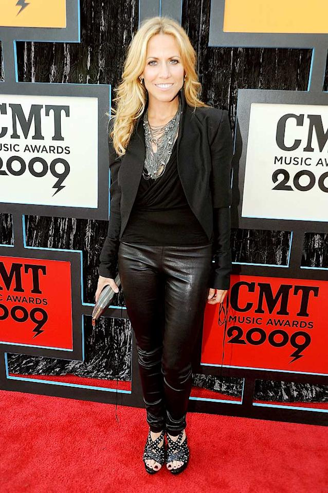 """We adore Sheryl Crow and her fierce studded heels, but those ill-fitting leather pants have got to go! Jeff Kravitz/<a href=""""http://filmmagic.com/"""" target=""""new"""">FilmMagic.com</a> - June 16, 2009"""