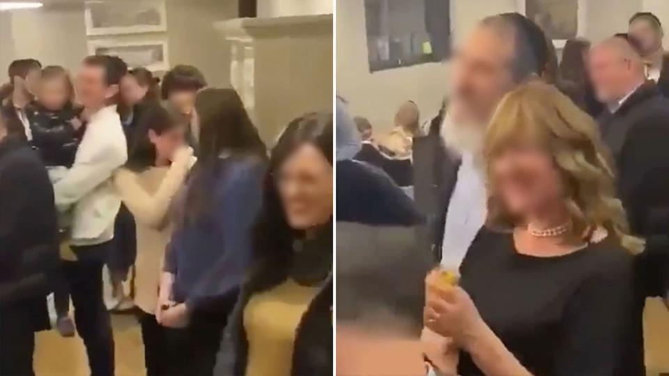 There now six cases linked to the engagement party in Melbourne. Source: Twitter
