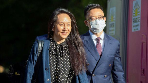 PHOTO: Huawei Technologies Chief Financial Officer Meng Wanzhou leaves her home to attend a court hearing in Vancouver, British Columbia, Canada, Sept. 24, 2021.  (Tae Hoon Kim/Reuters)