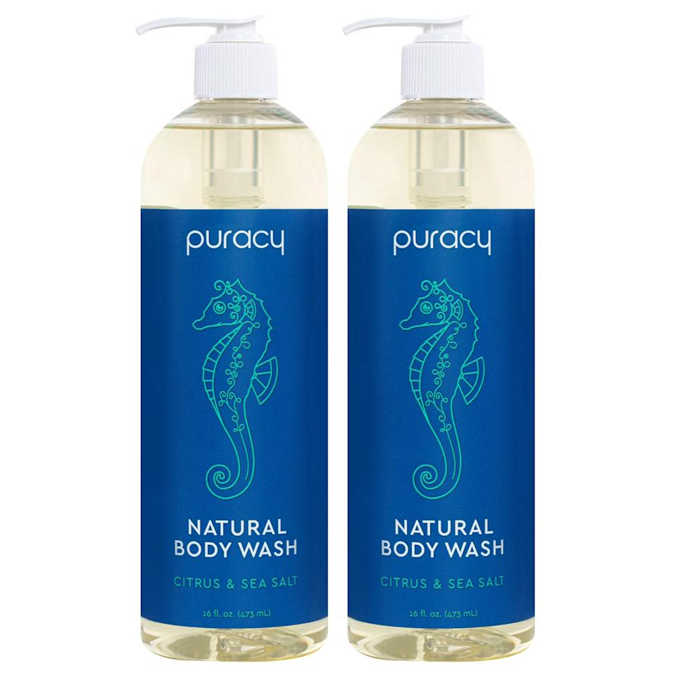 Puracy Body Wash, Citrus & Sea Salt, Natural Bath & Shower Gel (2-pack) (Photo: Amazon)
