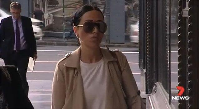 Ayoub arrived at court facing two years' jail. Picture: 7 News