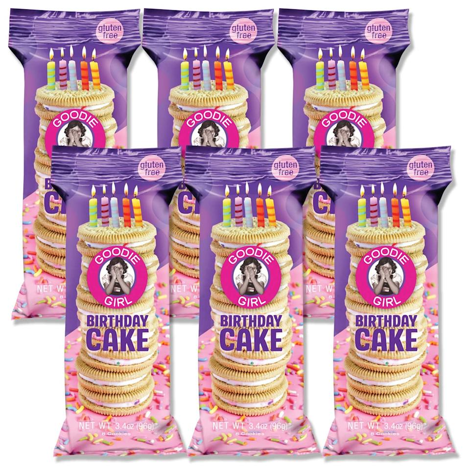 "<p>These <a href=""https://www.popsugar.com/buy/Goodie-Girl-Birthday-Cake-Cookies-460707?p_name=Goodie%20Girl%20Birthday%20Cake%20Cookies&retailer=amazon.com&pid=460707&price=20&evar1=fit%3Aus&evar9=46285295&evar98=https%3A%2F%2Fwww.popsugar.com%2Ffitness%2Fphoto-gallery%2F46285295%2Fimage%2F46285297%2FGoodie-Girl-Birthday-Cake-Cookies&list1=shopping%2Camazon%2Cdessert%2Clow%20calorie%2Chealthy%20desserts&prop13=mobile&pdata=1"" rel=""nofollow"" data-shoppable-link=""1"" target=""_blank"" class=""ga-track"" data-ga-category=""Related"" data-ga-label=""https://www.amazon.com/Goodie-Girl-Cookies-Chocolate-Individual/dp/B07L163MFC/ref=sr_1_36?crid=3JUX49JY3SWJU&amp;keywords=healthy%2Bdesserts%2Bsnacks&amp;qid=1560886613&amp;s=gateway&amp;sprefix=healthy%2Bdesserts%2Caps%2C124&amp;sr=8-36&amp;th=1"" data-ga-action=""In-Line Links"">Goodie Girl Birthday Cake Cookies</a> ($20 for 6) have 170 calories per serving, and they're positively swoon-worthy.</p>"