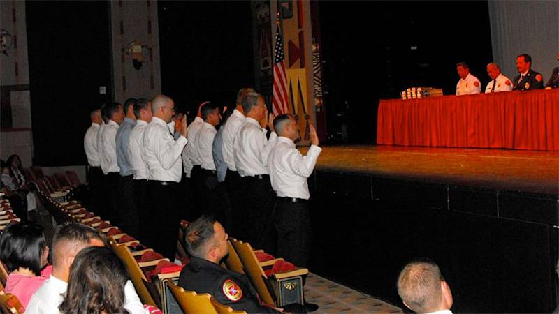 Albuquerque Fire Department taking an oath. Photo: Facebook